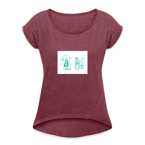 TEST DESIGN - Women's Roll Cuff T-Shirt
