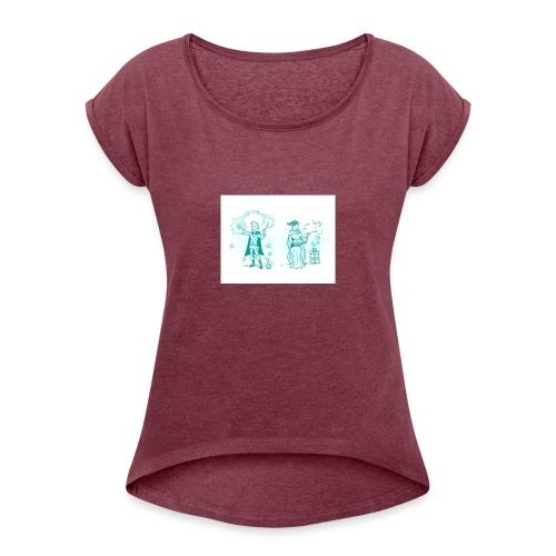 TEST DESIGN - Women's Roll Cuff T-Shirt
