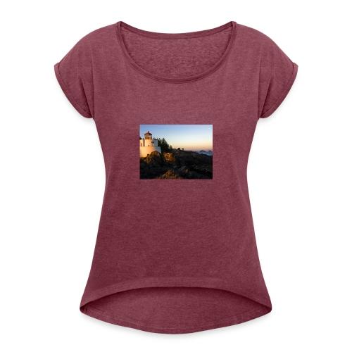 Lighthouse - Women's Roll Cuff T-Shirt