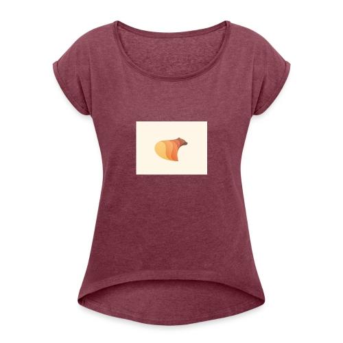 browen bear - Women's Roll Cuff T-Shirt