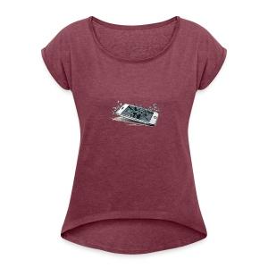 PHONEDESIGN - Women's Roll Cuff T-Shirt