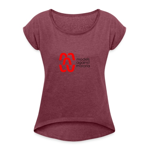 mam LOGO2 - Women's Roll Cuff T-Shirt