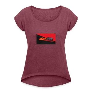 warface_black_shark - Women's Roll Cuff T-Shirt