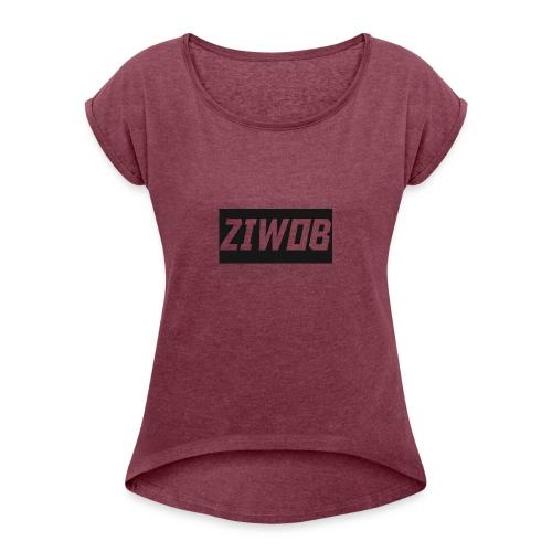 Ziwob shirt design - Women's Roll Cuff T-Shirt