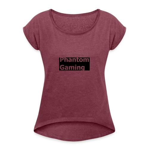 Phantom Shirt No.4   New Logo Design - Women's Roll Cuff T-Shirt