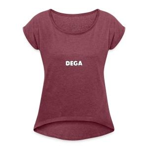 dega shirt - Women's Roll Cuff T-Shirt