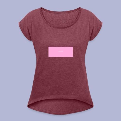 TP_shirt_logo2 - Women's Roll Cuff T-Shirt