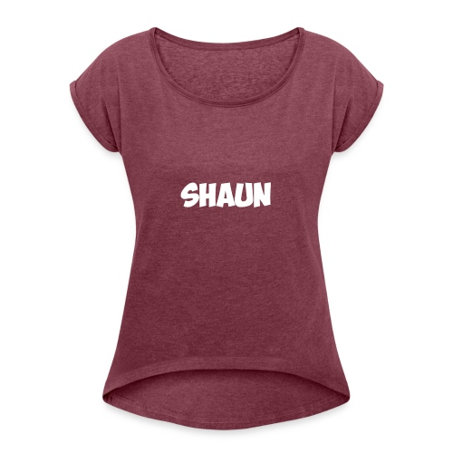 Shaun Logo Shirt - Women's Roll Cuff T-Shirt