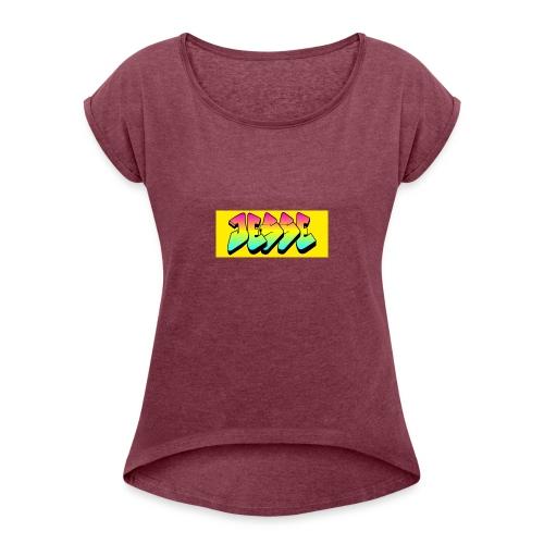 jesses logo - Women's Roll Cuff T-Shirt