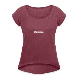 GK Freeride White Logo - Women's Roll Cuff T-Shirt