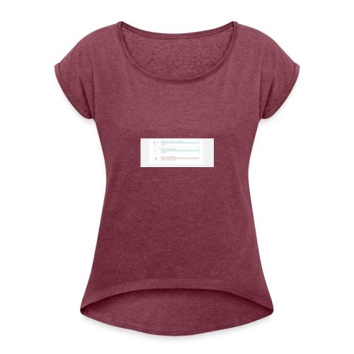 bulk_upload - Women's Roll Cuff T-Shirt