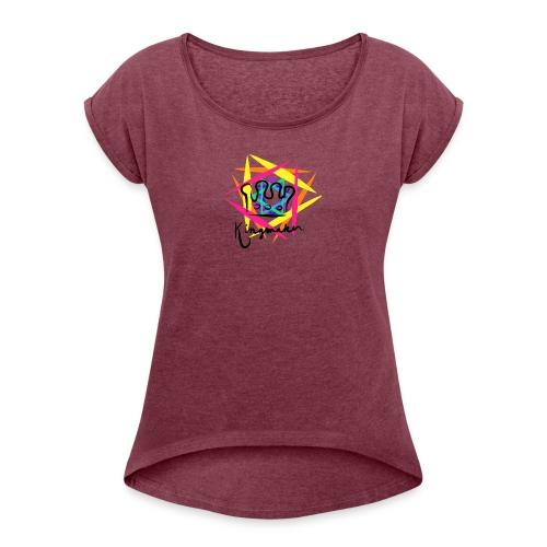 Kingmaker Logo - Women's Roll Cuff T-Shirt