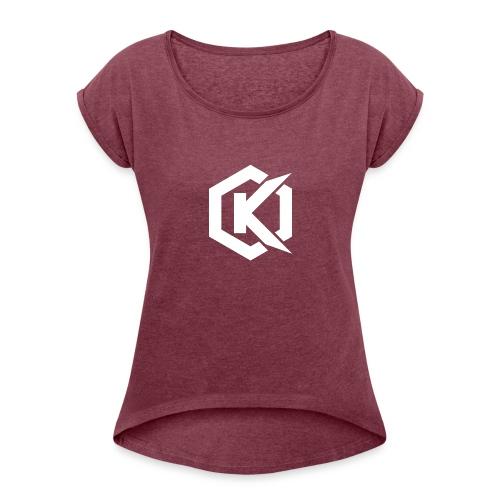 Logo de Kunsel sur Twitch et Ylutube - Women's Roll Cuff T-Shirt
