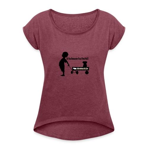 Kid Trailer - Women's Roll Cuff T-Shirt