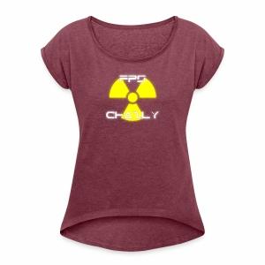 FPSchazly Logo - Women's Roll Cuff T-Shirt