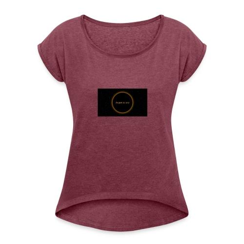 Solar Eclipse - Women's Roll Cuff T-Shirt