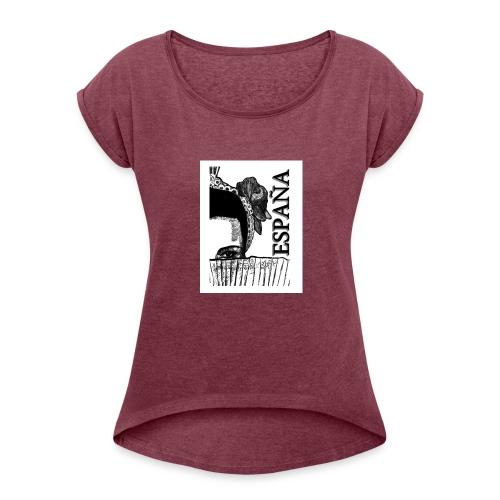 Spain - Women's Roll Cuff T-Shirt