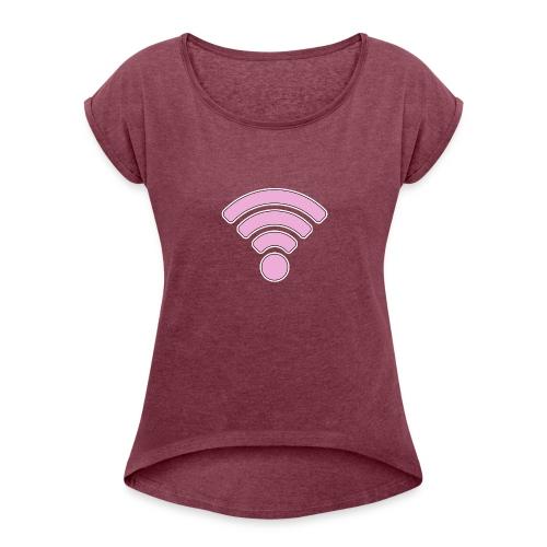 wifi - Women's Roll Cuff T-Shirt