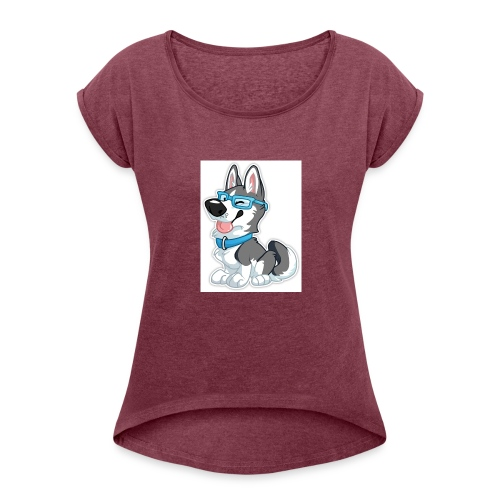 N3RDHusky - Women's Roll Cuff T-Shirt