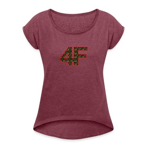 4-F Camouflage - Women's Roll Cuff T-Shirt