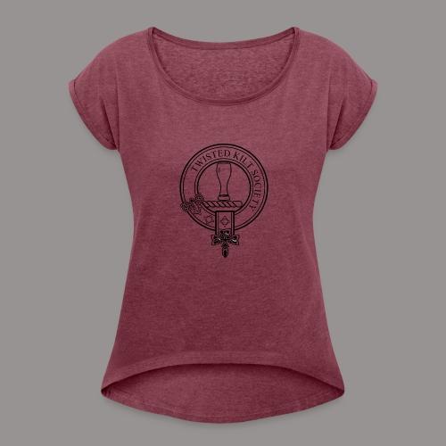 Twisted Kilt Society Crest - Women's Roll Cuff T-Shirt