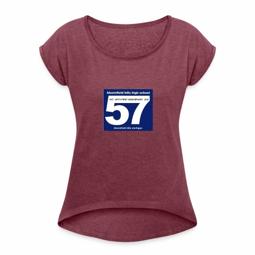 logo bhhs57 61 - Women's Roll Cuff T-Shirt