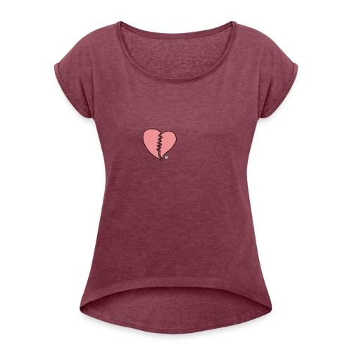 Heartbreak - Women's Roll Cuff T-Shirt