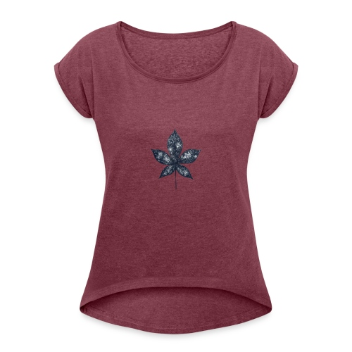 Universe in a Leaf - Women's Roll Cuff T-Shirt