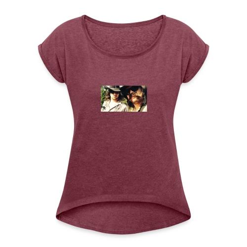 Jaw Thrust Cover Art - Women's Roll Cuff T-Shirt