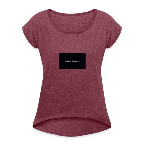 black and gold t shirt - Women's Roll Cuff T-Shirt