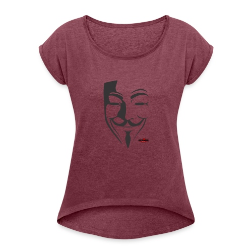 HACK4FUN Guy Fawkes - Women's Roll Cuff T-Shirt