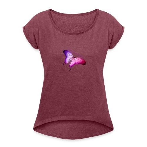 New Butterfly - Women's Roll Cuff T-Shirt