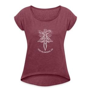 Moth and Dagger Logo - Women's Roll Cuff T-Shirt