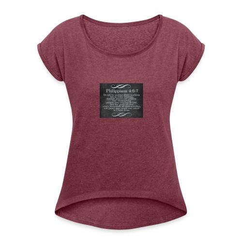 Inspirational Scripture Wear - Women's Roll Cuff T-Shirt