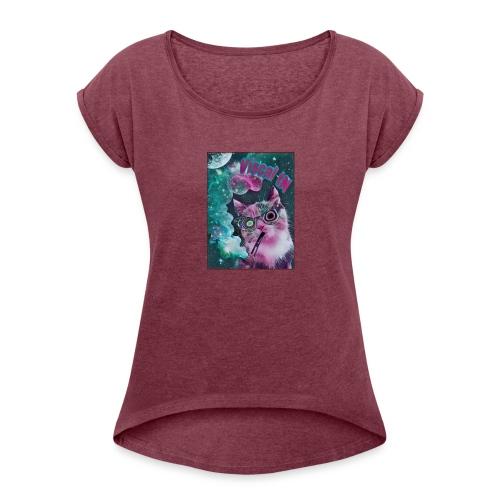 Viscal tN merch - Women's Roll Cuff T-Shirt