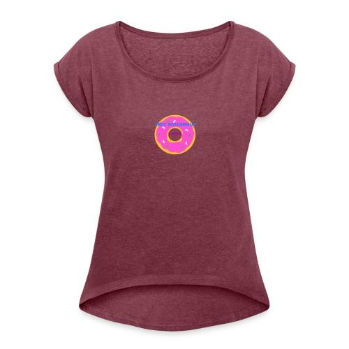 WET DOUGHNUT FILMS - Women's Roll Cuff T-Shirt