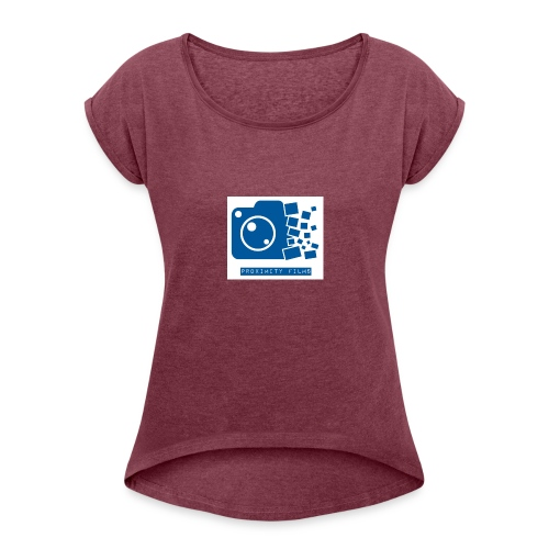 Proximity Films official logo - Women's Roll Cuff T-Shirt