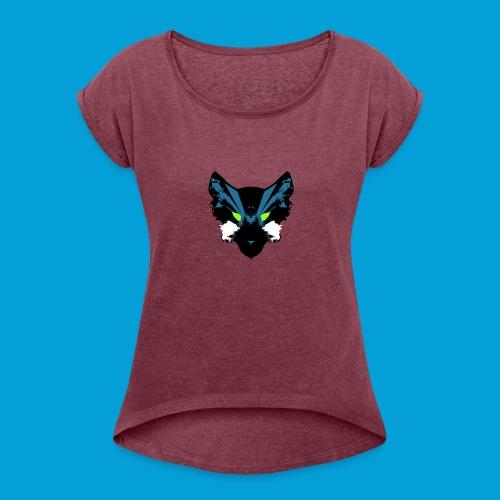 Galaxy Wolf Pack - Women's Roll Cuff T-Shirt