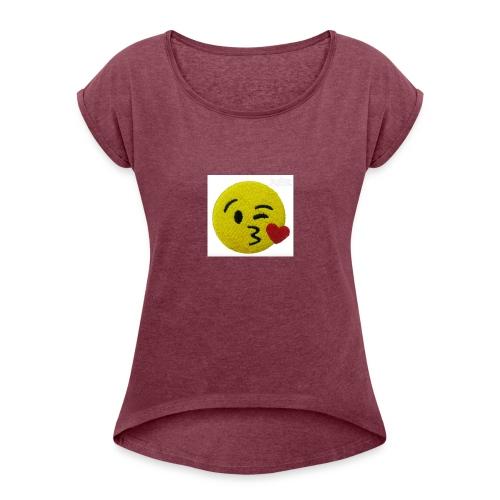 cute pictured phonecase - Women's Roll Cuff T-Shirt