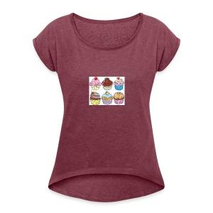 cupcakes - Women's Roll Cuff T-Shirt