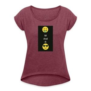 This design is soo beautiful. Buy it - Women's Roll Cuff T-Shirt