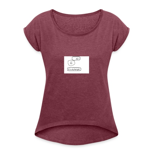 Derp Face! - Women's Roll Cuff T-Shirt