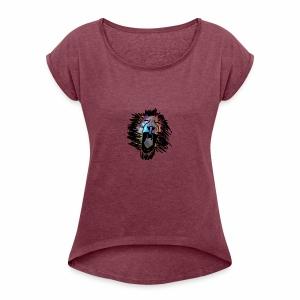 Galaxy Lion - Women's Roll Cuff T-Shirt
