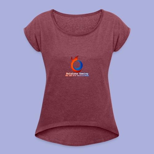 SolyLuna Gaming Logo - Women's Roll Cuff T-Shirt