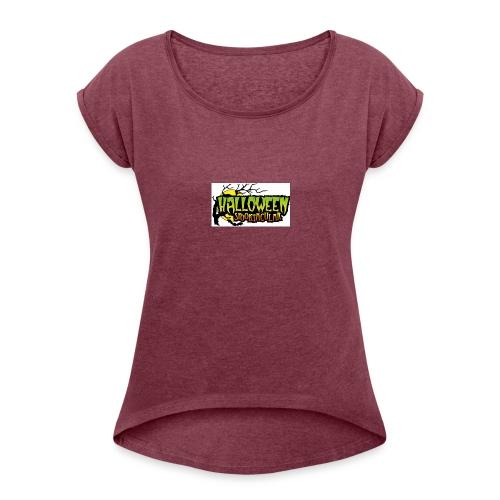 Halloween-Spooktacular - Women's Roll Cuff T-Shirt