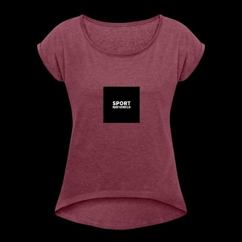 Sportnation910 Logo - Women's Roll Cuff T-Shirt