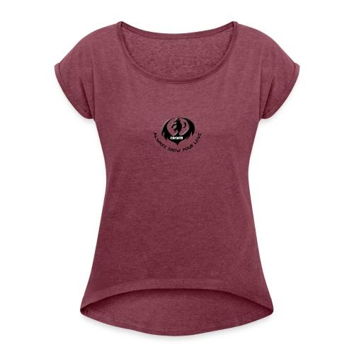 ArtofFD Logo - Women's Roll Cuff T-Shirt