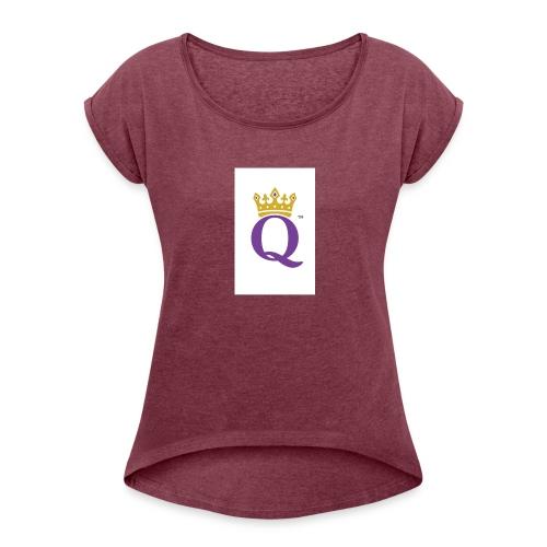 QUEEN CASE - Women's Roll Cuff T-Shirt