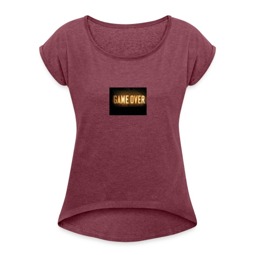 game-over tops ect - Women's Roll Cuff T-Shirt