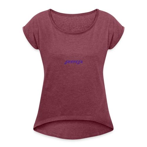 JaNinja Logo - Women's Roll Cuff T-Shirt